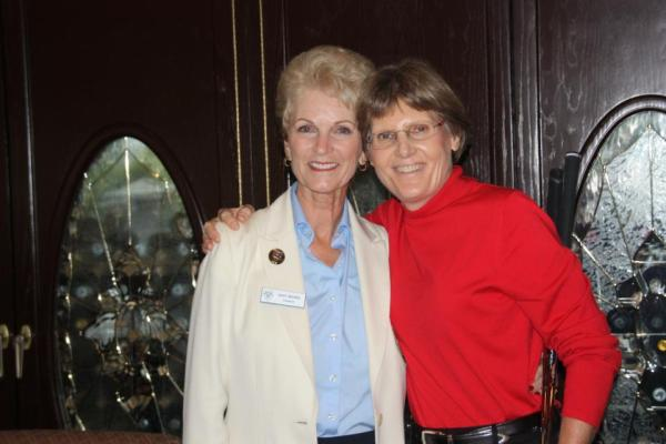 Jody Nickel with guest speaker, Barbara Moxness